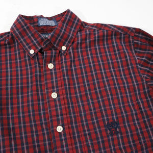 Izod Shirts & Tops - Izod Burgandy/Red Long sleeve Button up 8 in Boys